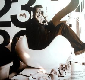 Eero Aarnio, 1960 -luku, pyöreä tuoli, muovi