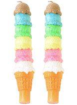Illuminated Ice Cream Candle Set