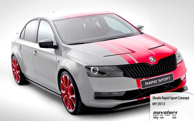 Skoda Rapid Sport Concept http://www.nuvolari.tv/anteprime/skoda-rapid-sport-concept-my-2013