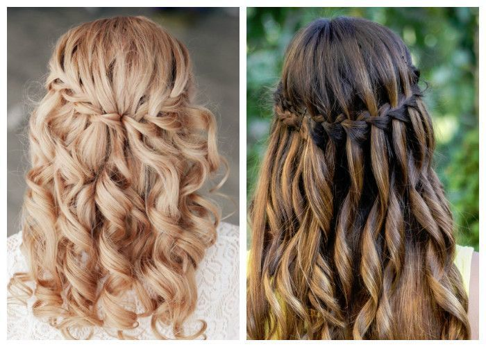 Hairstyle waterfall (photo and video lesson