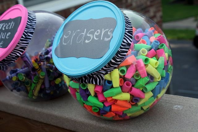 Candy containers for school/craft supplies