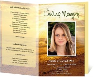 Design Your Own Theme  Fast Funeral Printing  Funeral Programs