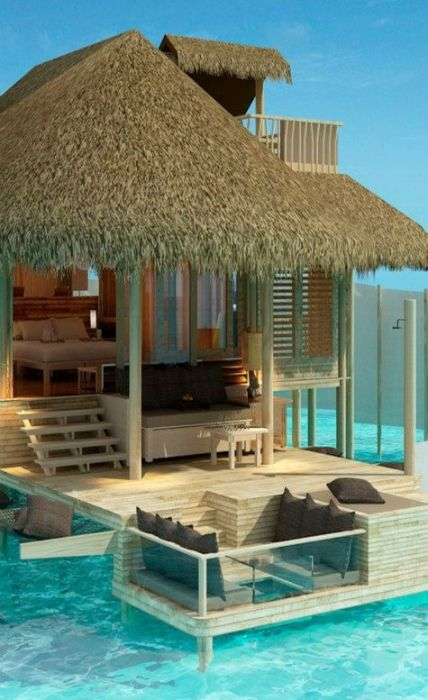 Luxury retreat at Maldives.