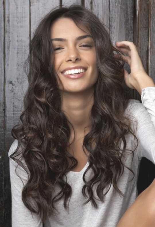 Frisuren Lange Braune Locken Moderne Frisuren