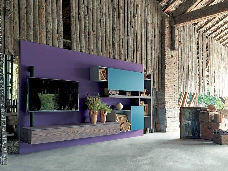 TV wall system SIDE 1 by Fimar