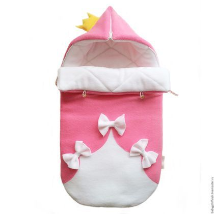 """Для новорожденных, ручной работы. Ярмарка Мастеров - ручная работа. Купить Конверт для новорожденного на выписку и в коляску """"Принцесса"""". Handmade. Розовый"""