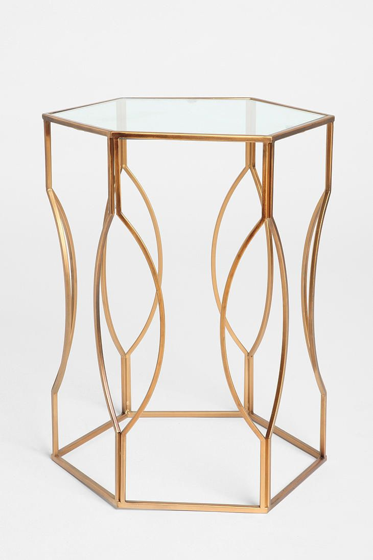 Hexagon Side Table. Gold Side TablesMetal ...