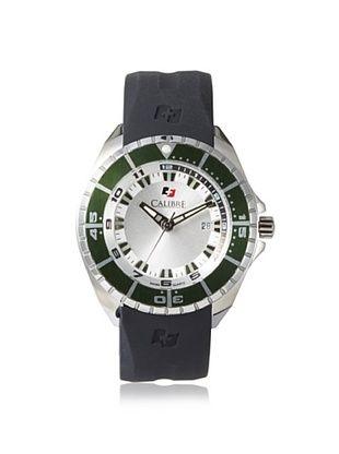 69% OFF Calibre Men's 4S2-04-001.6 Sealander Black/Silver Rubber Watch