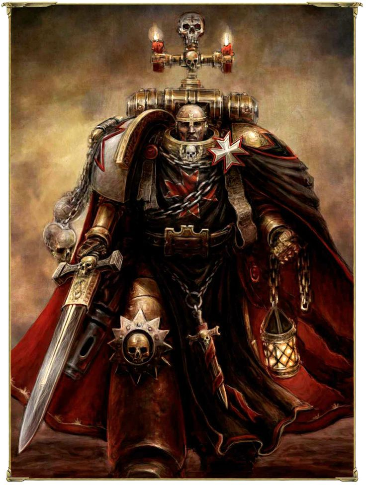 Space Marine - Warhammer 40k - Adeptus Astartes - Black Templars - High Marshal Helbrecht