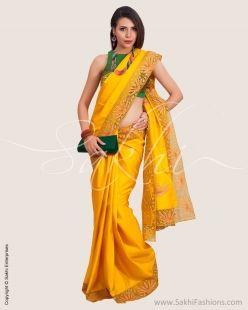 Yellow & Gold Pure Kanchivaram Silk Saree