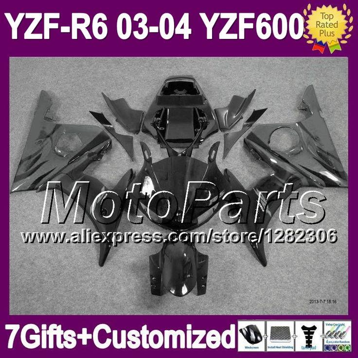 Серый 7 подарки + для YAMAHA YZF R6 YZF R 6 2003 2004 YZF600 серый черный * 94121 R6 YZFR6 03 04 YZF-R6 03 - 04 зализа комплект