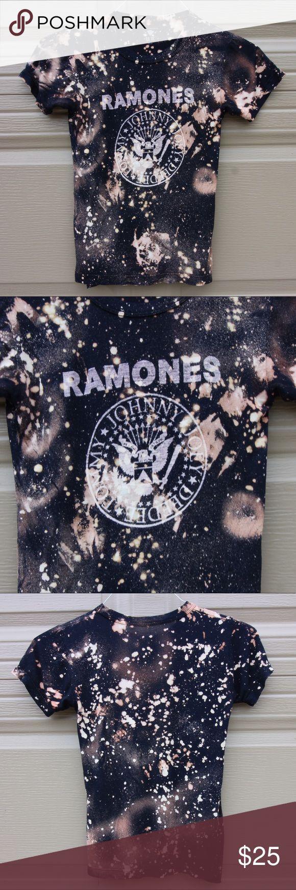 Black keys t shirt uk - Bleach Dyed Ramones T Shirt