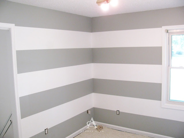 Andrea Arch: DIY: How to paint perfect wall stripes