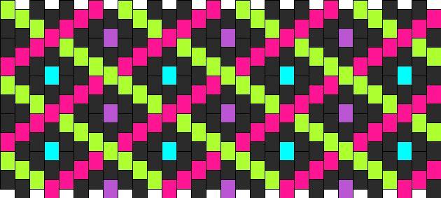 Neon Plaid bead pattern