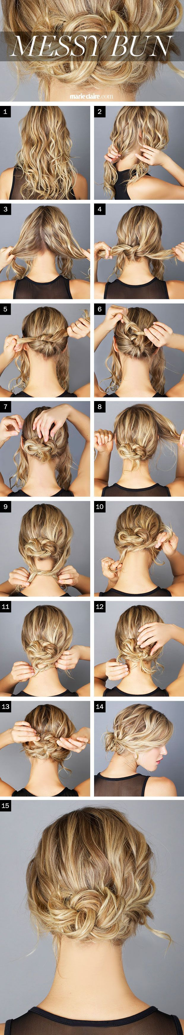Hair How-To: The Messy Knot Bun (click for step by step instructions) --- if you... - http://1pic4u.com/2015/09/02/hair-how-to-the-messy-knot-bun-click-for-step-by-step-instructions-if-you/