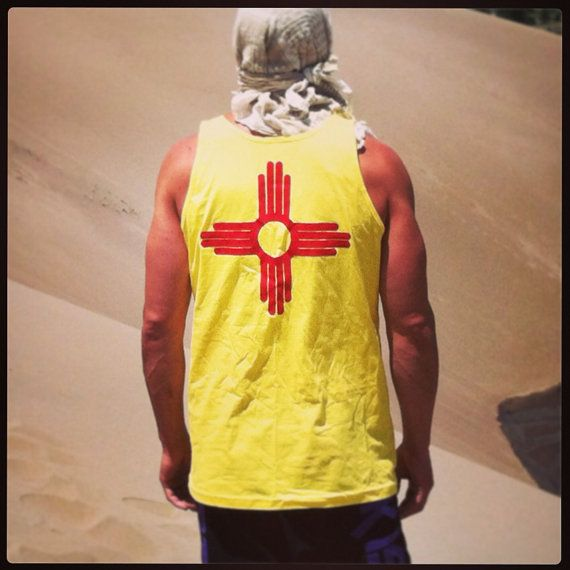 New Mexico Flag Custom Sewn Tank Top fabric zia by FrozenKiss, $32.00