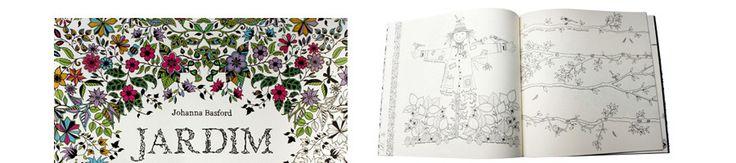 livro jardim secreto johanna basford | Livro Jardim Secreto: Livro de Colorir e Caça ao Tesouro Antiestresse ...