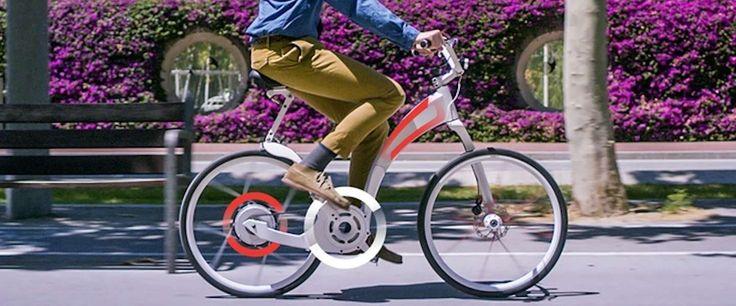 Deze elektrische fiets kun je binnen een seconde opvouwen!