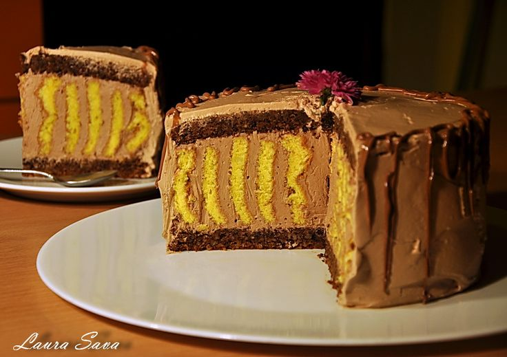 Tort Spirala de ciocolata cu crema ganache
