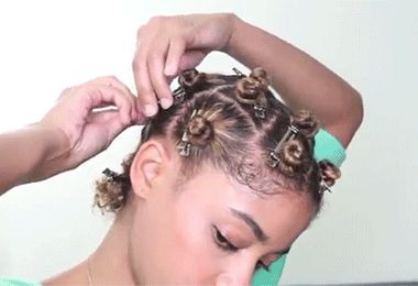 How to Do A Bantu Knot-Out (Even On Short Hair)