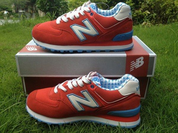 Joes New Balance 574 WL574YRD Lovers Red Blue White Yacht Club Womens Shoes