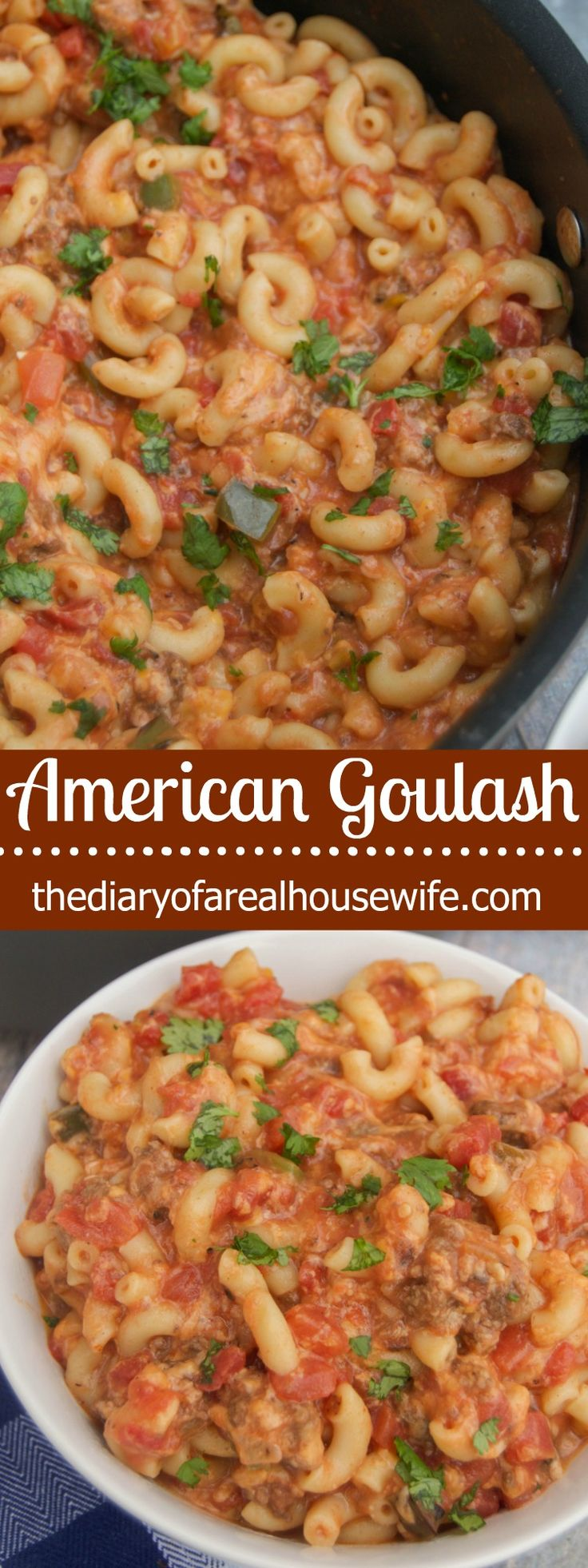 This Goulash recipe is my husbands absolute favorite!  Even though he calls is American chop suey. I grew up calling it Goulash, and it was a family favorite growing up!
