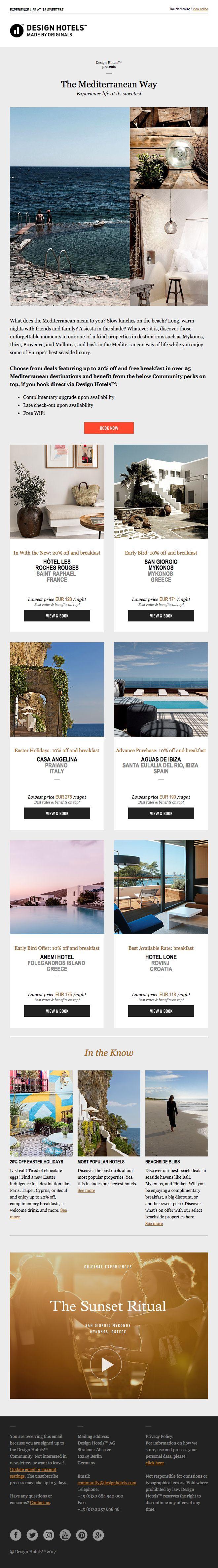 Design Hotels Newsletter 04.2017