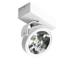 Spot LAMPA sufitowa JERRY GM4113-12V WH Azzardo reflektorowa OPRAWA metalowy PLAFON regulowany biały