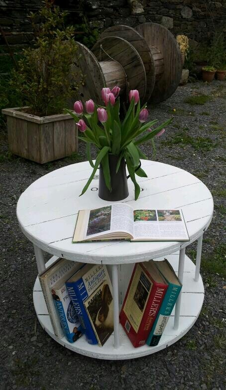 Upcycled cable table