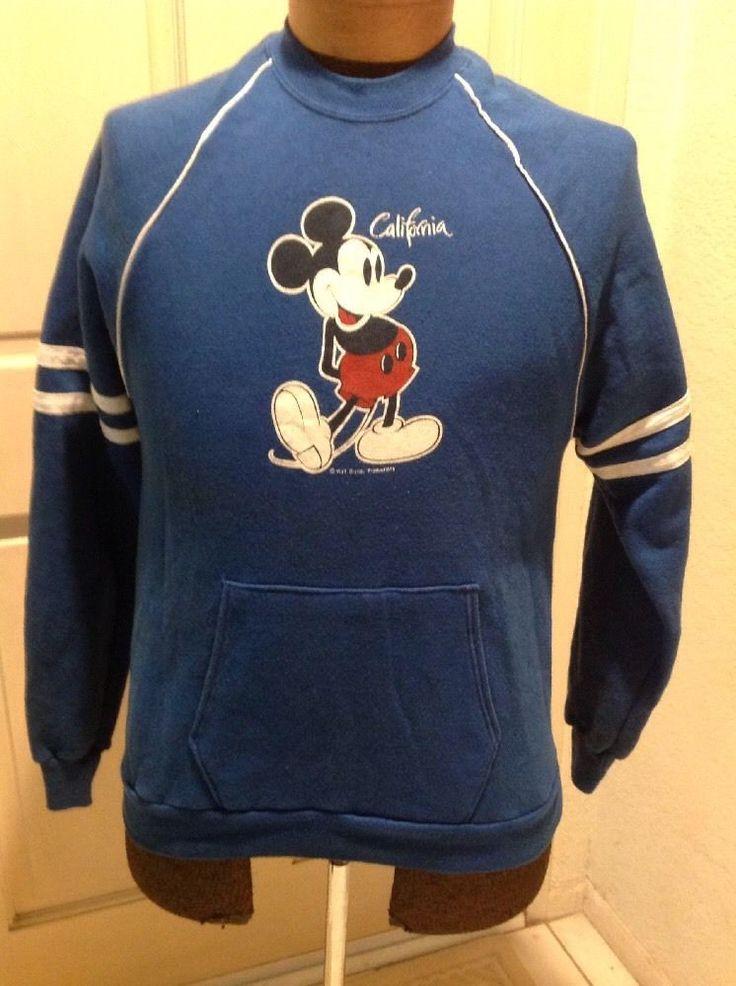 Vintage Mickey Mouse Disney Sweatshirt 70s  Velma Sheen XL #VelvaSheen