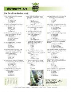 Free Printable Star Wars Activity Sheets