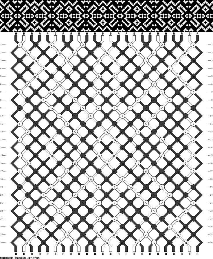 aztec friendship bracelet pattern