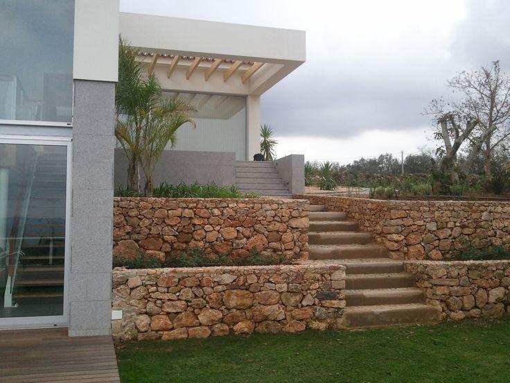 muro em pedra rustica