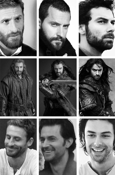 Dean O'Gorman, Richard Armitage and Aidan Turner:  who says dwarves aren't hot! Men of LOTR - The Hobbit