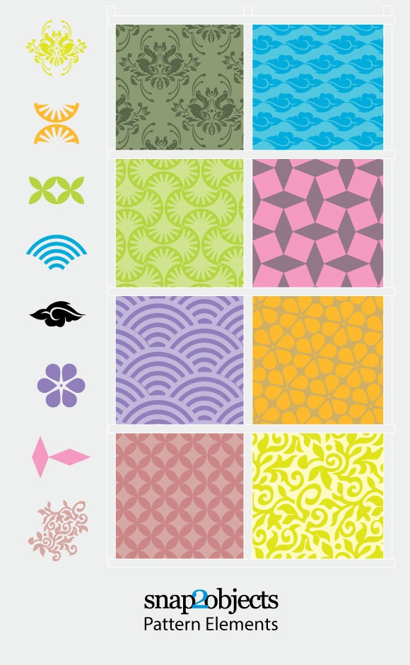 free vectors graphics - Free Vector Decorative Pattern Elements