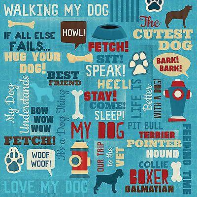 Karen Foster BEST FRIEND COLLAGE 12x12 Scrapbooking (2) PCS Paper DOG