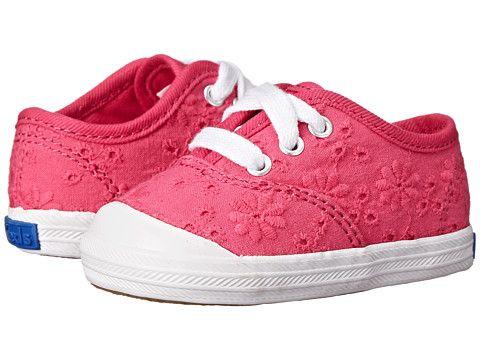 Keds Kids Champion Lace Toe Cap (Infant/Toddler) Pink - Zappos.com Free Shipping BOTH Ways