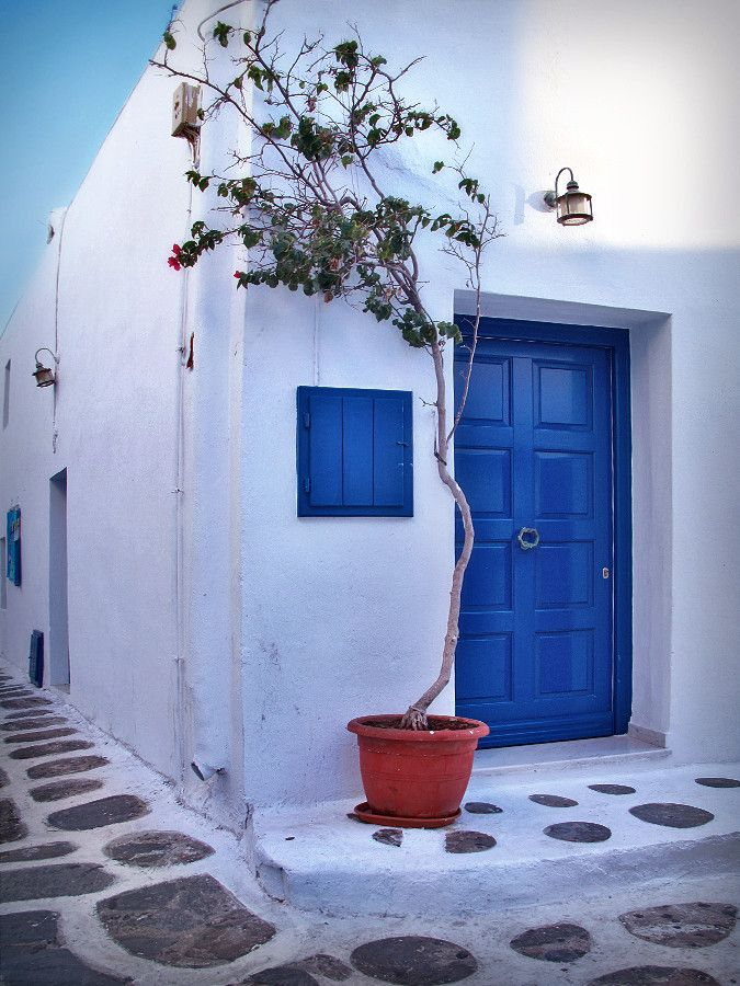 White & Blue. Autumn in Mykonos by Elena Shai