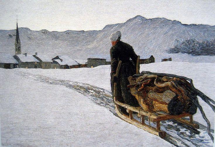 """Return of the Wood"" by Giovanni Segantini"