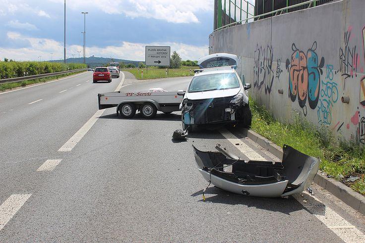 Nehoda na magistrále u Plzně