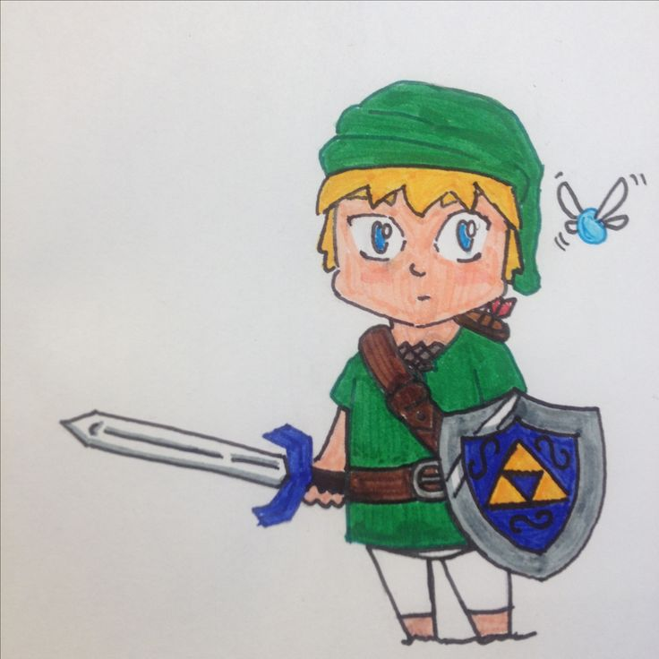 Link drawing by Dhalie Fortin