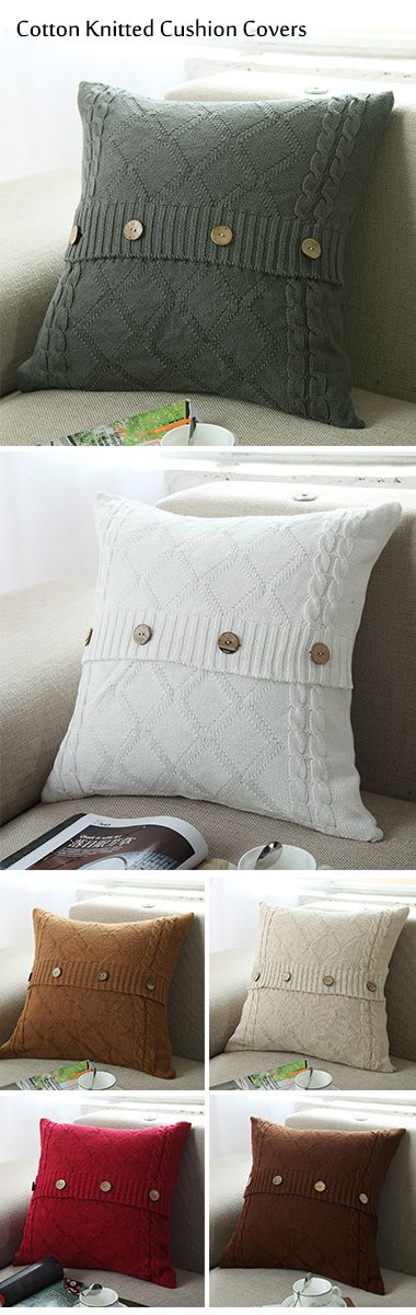 45 x 45cm cotton knitted crochet pillow cushion covers