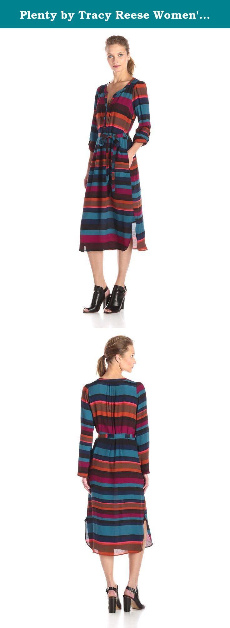 Plenty by Tracy Reese Women's Midi Kurta Dress, Bold Stripe, Medium. Plenty by Tracy Reese dress.