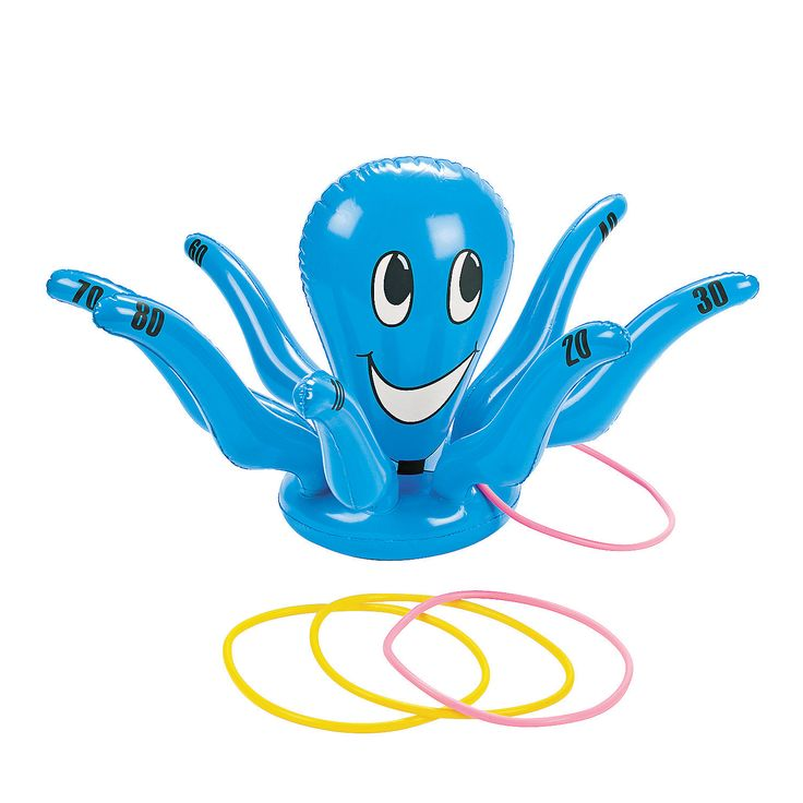 Inflatable Smiling Octopus Ring Toss - OrientalTrading.com