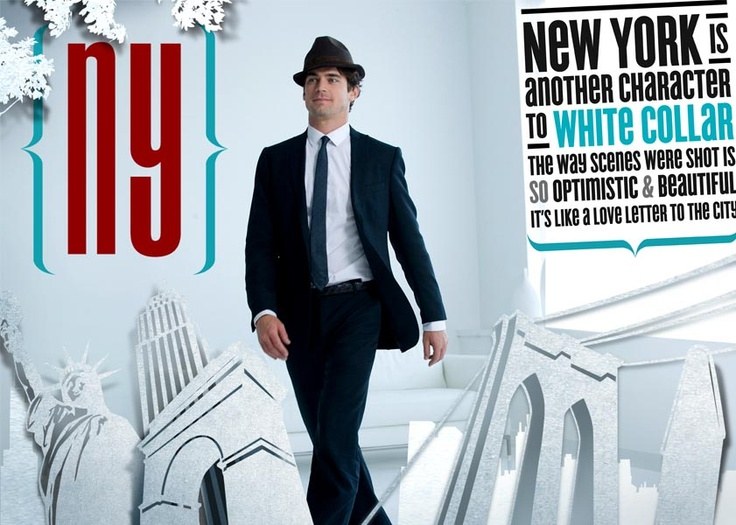 City made of white card boards including New York's iconic landmarks, and there it was, Neal Caffrey walks through it with swaggers.