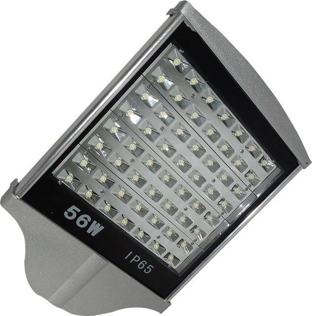 LAMPA STRADALA LED 56W ALB RECE are un fluxul luminos puternic,5040LM, dat de cele 56 Power LED a caror putere este maximizata de reflectorul oglindat. Corpul de aluminiu profilat permite racirea LED-urilor si prelungirea duratei de viata a lampii.