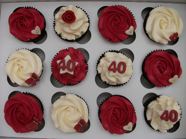 Ruby Wedding cupcakes   Flickr - Photo Sharing!