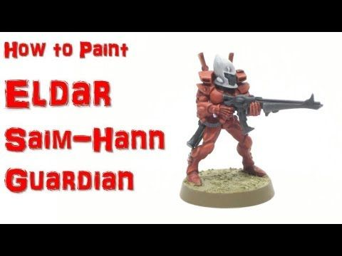 ▶ How to Paint Eldar Saim-Hann Guardian - YouTube #Warhammer #Eldar #painting