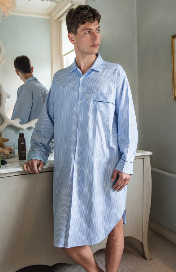 Two-Fold Luxury Cotton Men's Nightshirt - Winter Collection 2016