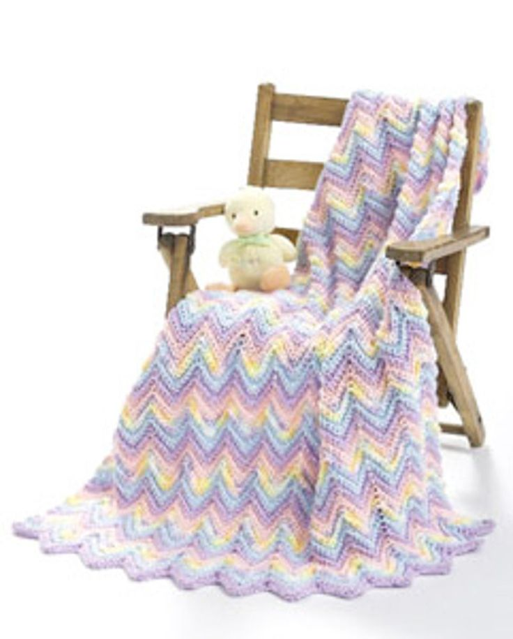 590 best Crochet Afghan Ripple ZigZag Wave Chevron Blanket images on ...